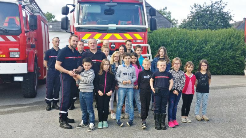 Visite de la caserne des sapeurs-pompiers de Bieuzy