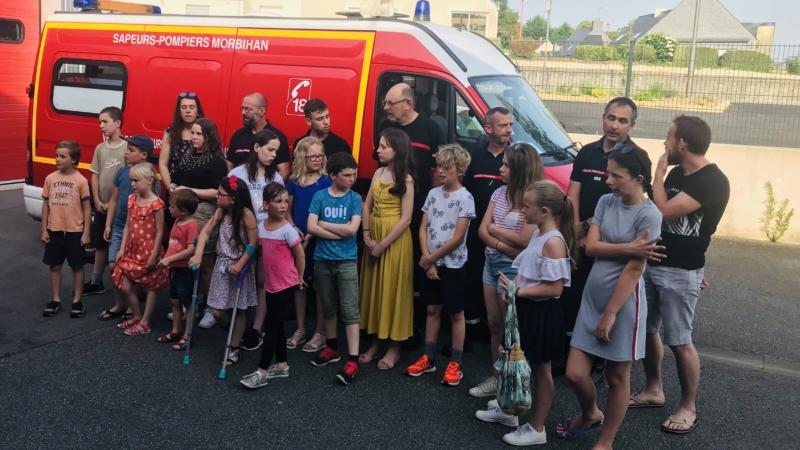 Visite de la caserne des sapeurs-pompiers de Pluméliau-Bieuzy