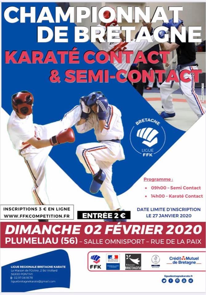 Championnat de Bretagne – Karaté contact & semi-contact