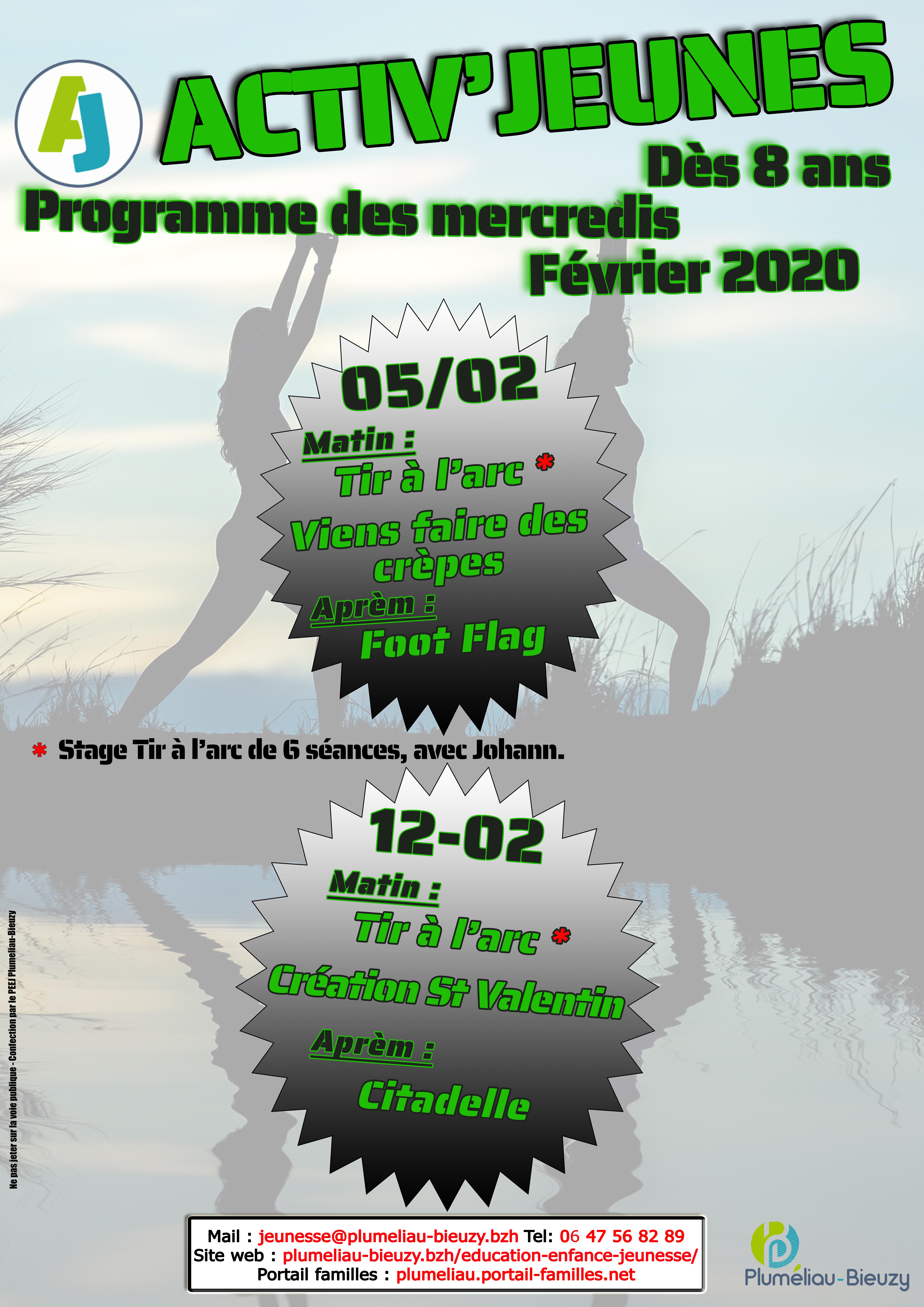 Programme des mercredis de février 2020