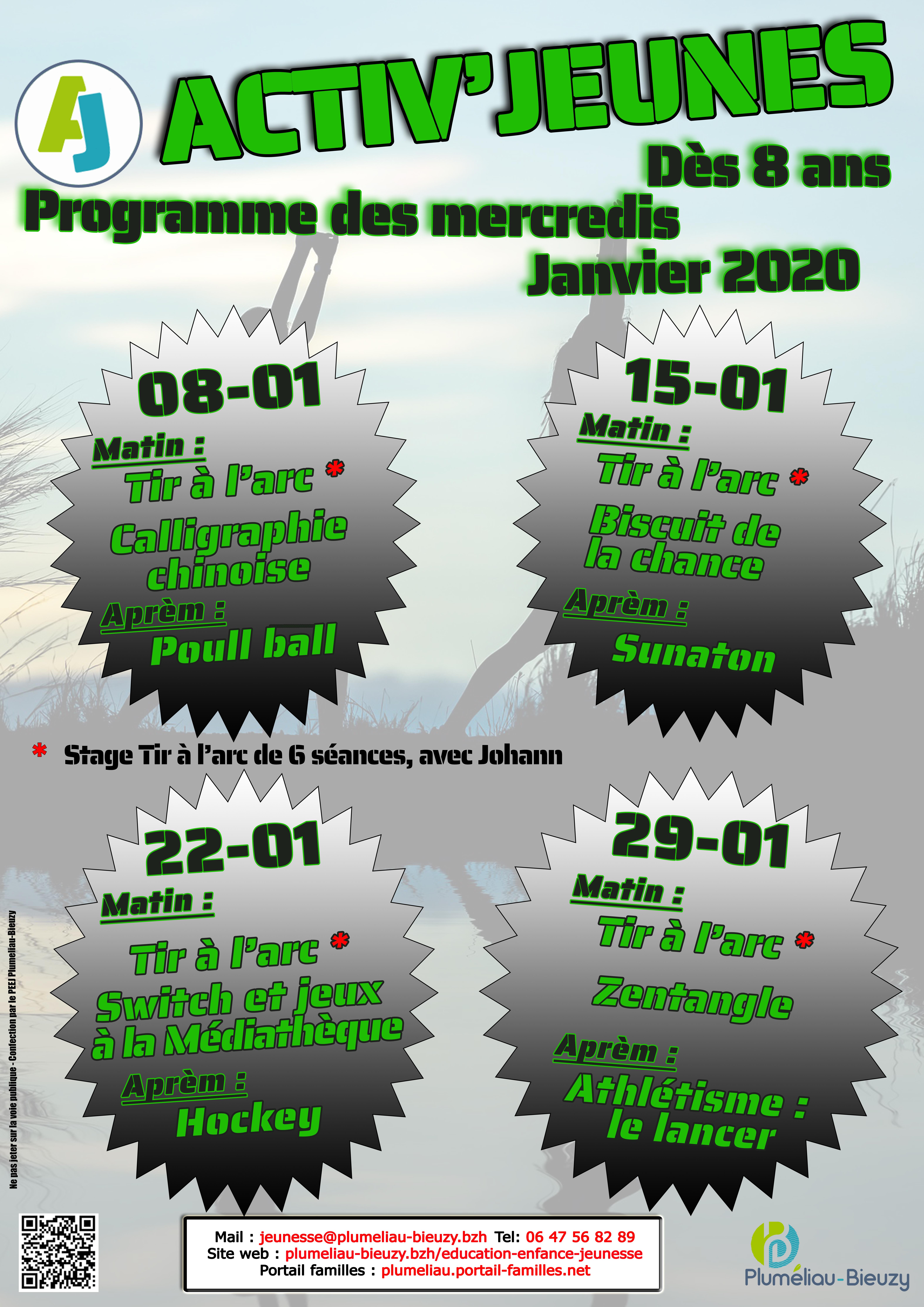 Programme des mercredis de janvier 2020