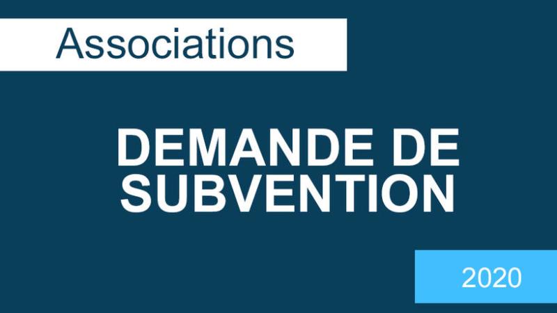 Associations : demande de subvention