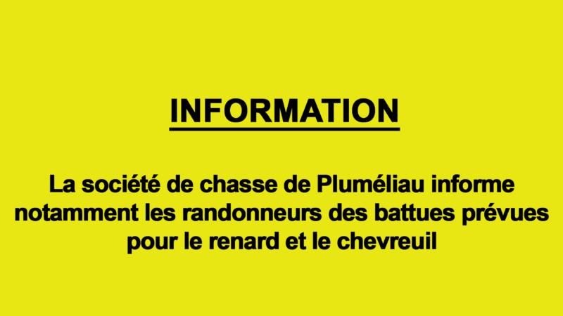 information : Société de chasse de Pluméliau