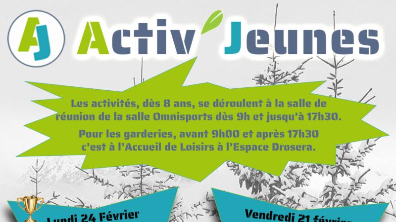 Activ'Jeunes 8-17 ans – Vacances d'Hiver