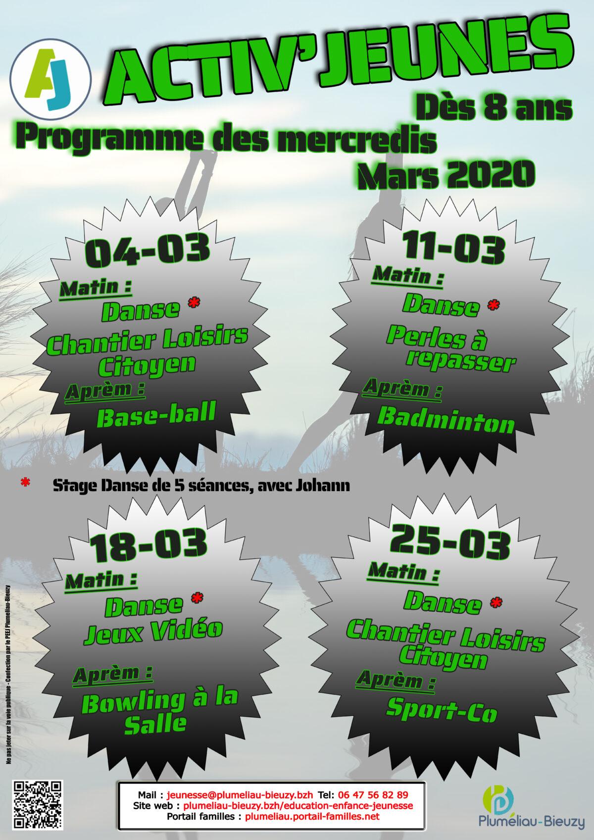 Programme des mercredis de mars 2020