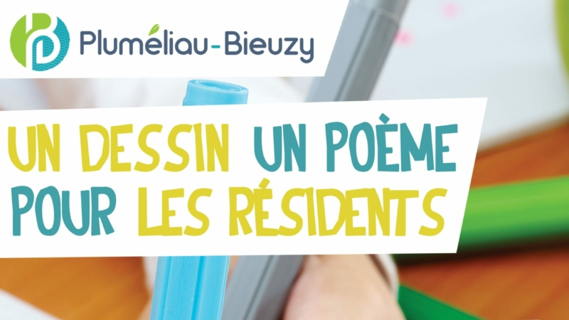 un dessin, un poème pour les résidents