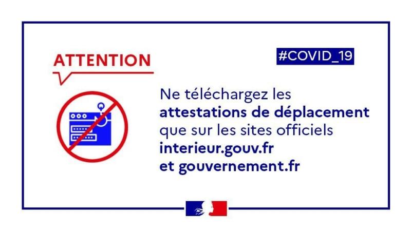 attention : Attestation de déplacement