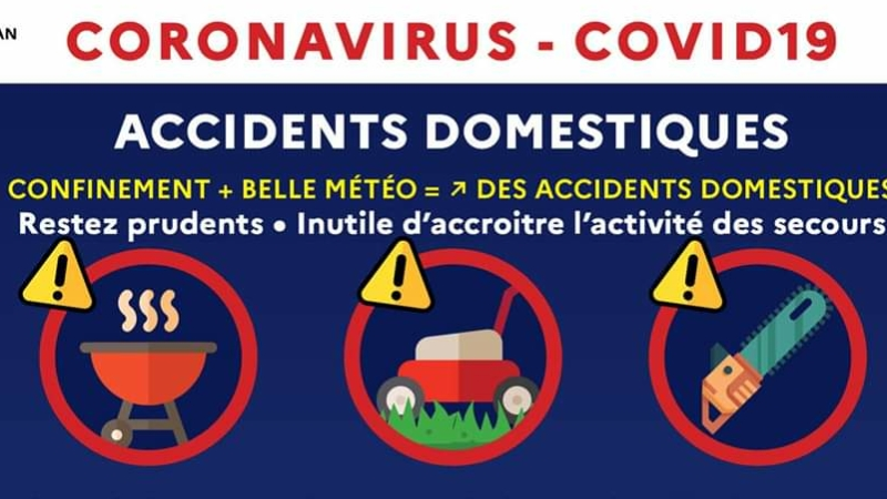 Coronavirus – Accidents domestiques