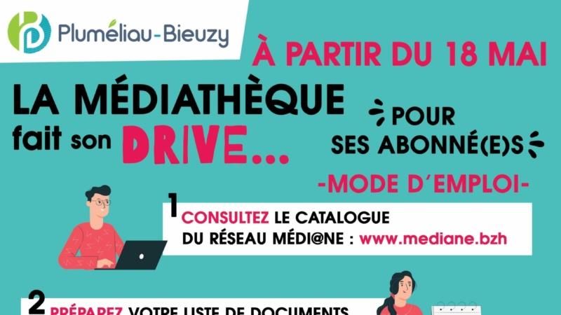 La médiathèque fait son DRIVE, pour ses abonné(e)s