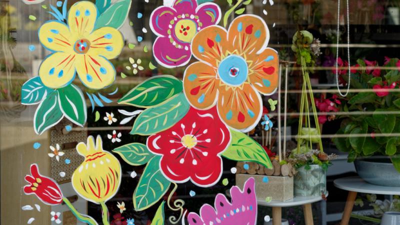 Décoration de vitrines par Catherine LAVALLADE