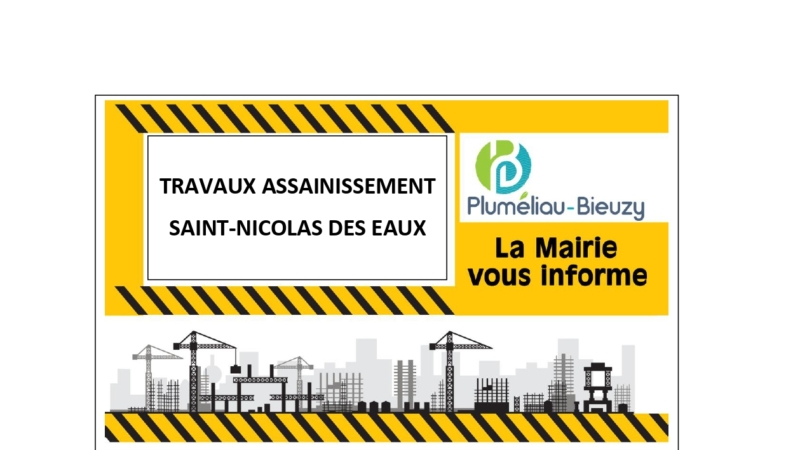Travaux assainissement – Saint-Nicolas-des-Eaux