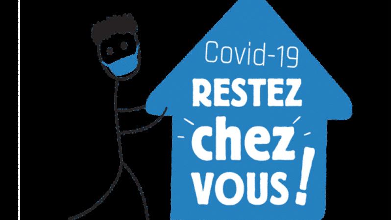 """COVID-19 RESTEZ """"CHEZ"""" VOUS !"""
