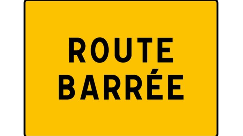 Rue des Combats de Kervernen : Route barrée