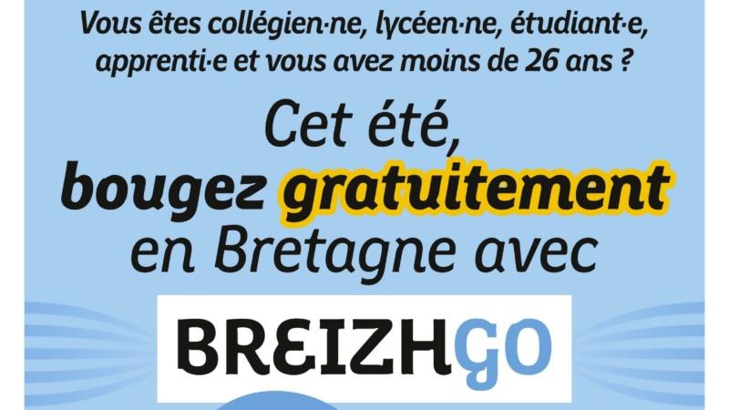 voyagez gratuitement sur l'ensemble du réseau BreizhGo cet été !