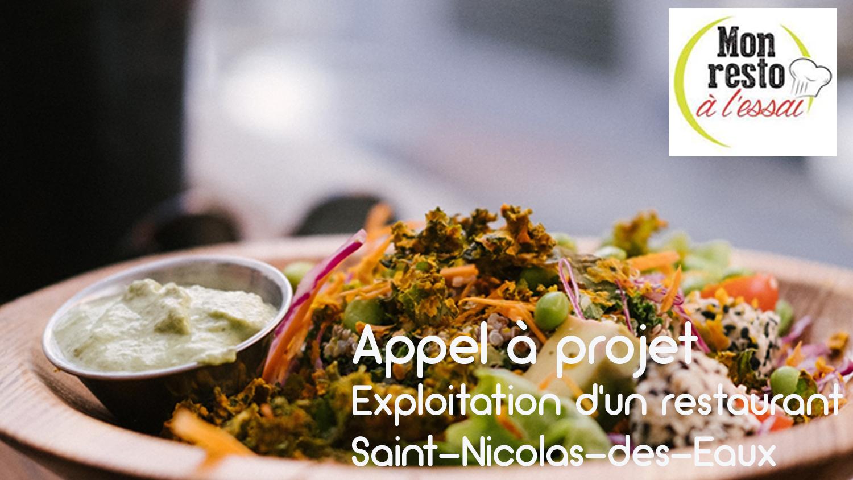 Appel à projet – Exploitation d'un restaurant à Saint-Nicolas-des Eaux